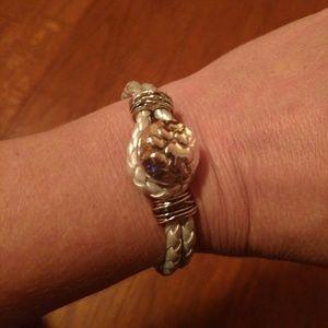 Magnolia and Vine braided emotion bracelet